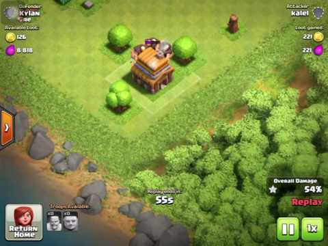 Witch in clan castle Witch defense (Clash of clans gameplay)