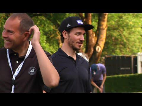 """Thomas Müller, Felix Neureuther und Martin Kaymer beim Golf-""""ProAm"""""""