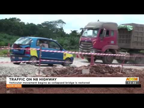 Traffic on N8 Highway: Vehicular movement begins as collapsed bridge is restored -  (21-9-21)