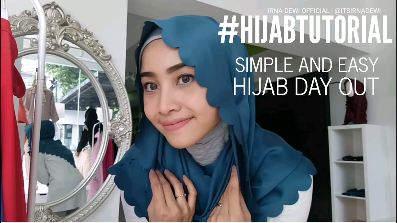 HJAB TUTORIAL SIMPLE AND EASY HIJAB DAY OUT JILBAB SANTAI