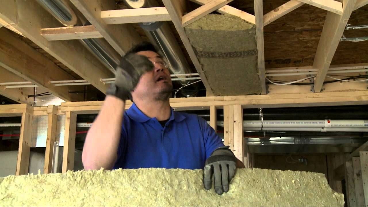 How to soundproof ceilings between floors youtube for Best sound barrier insulation