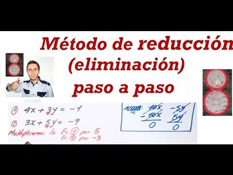 Método de reducción ( eliminación) paso a paso.