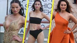 Lakme Fashion Week 2017 | Sonakshi Sinha | Hot Ramp Walk On Cruise | LFW 2017