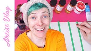 Artist Vlog #13   Testing oil paint MEDIUMS!