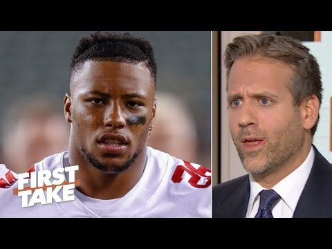 'Do not risk it!' - Max Kellerman warns the Giants not to rush Saquon Barkley | First Take