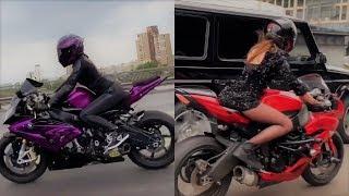 Красивые девушки на мотоциклах! Tik Tok Сompilation 2020