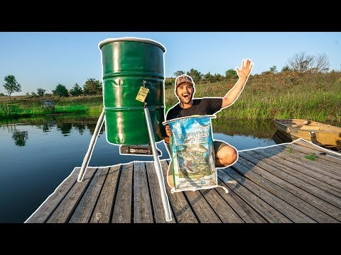 Building A AUTOMATIC Fish Feeder For My BACKYARD POND!!!