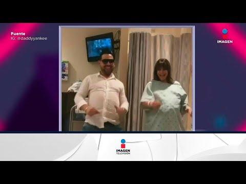 Mujer embarazada baila reggeaton para evitar cesárea | Noticias con Yuriria Sierra