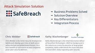 FOCUSPOINT PARTNER SHOWCASE - SAFEBREACH CYBER  SECURITY ATTACK SIMS.   Malware. Trojan Ransonware.