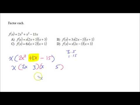 U3P1 Commonly Missed   Factoring Polynomials A