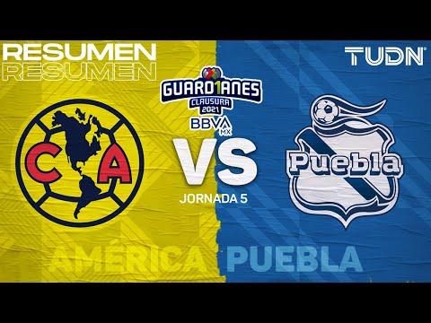 Resumen y goles   América vs Puebla   Torneo Guard1anes 2021 BBVA MX J5   TUDN