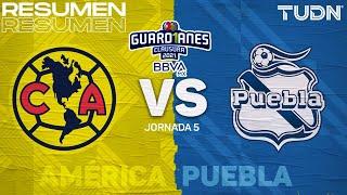 Resumen y goles | América vs Puebla | Torneo Guard1anes 2021 BBVA MX J5 | TUDN
