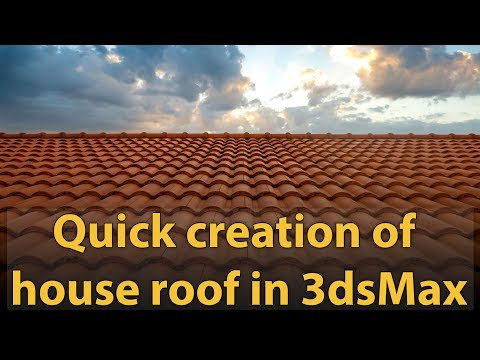 Quick Creation Of House Roof In 3dsmax Youtube