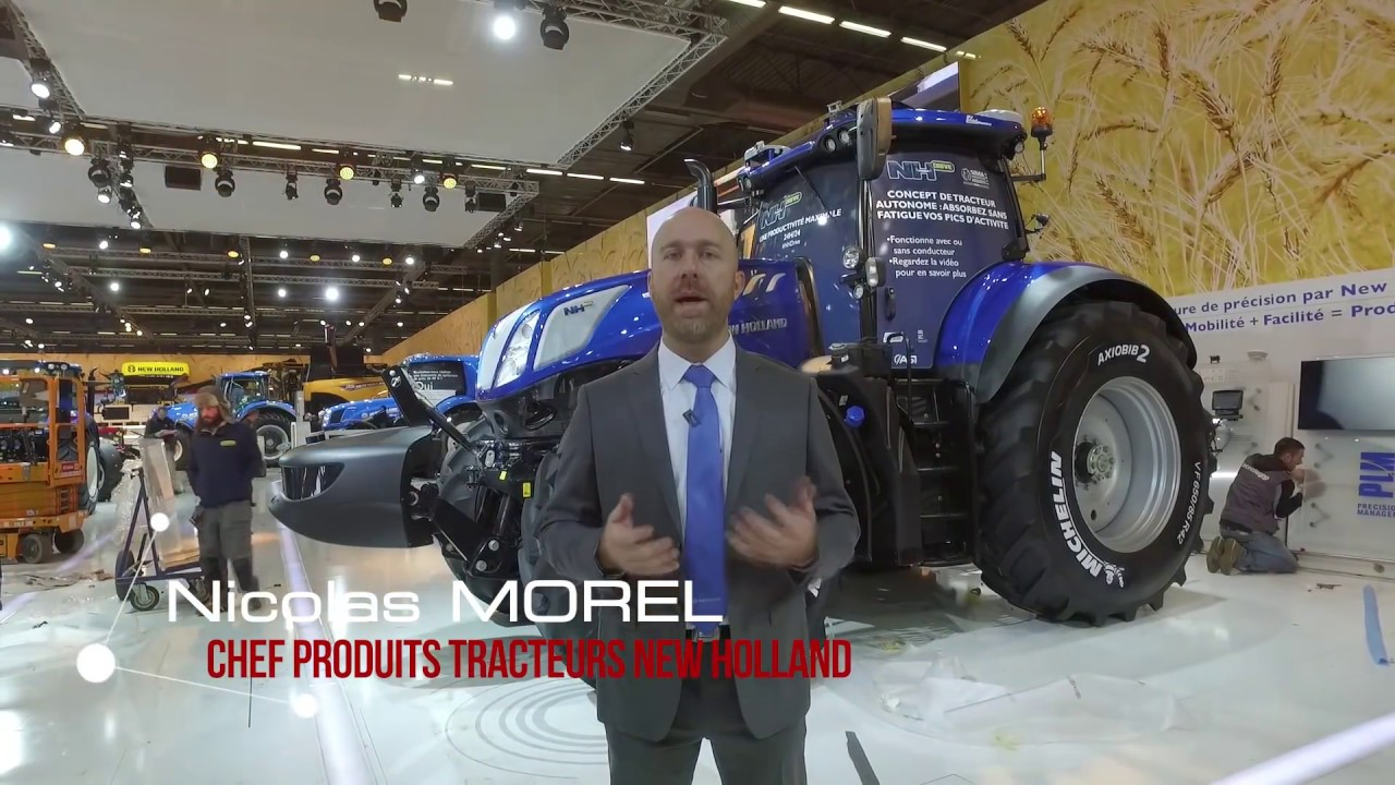 sima 2017 new holland nh drive tracteur autonome youtube. Black Bedroom Furniture Sets. Home Design Ideas