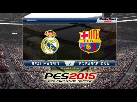 PES 2015 PS3 GAMEPLAY: Real Madrid vs Barcelona (SuperStar Level)