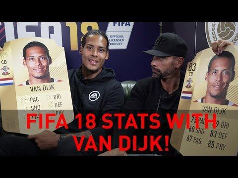 Discussing FIFA 18 stats with Southampton's Van Dijk!
