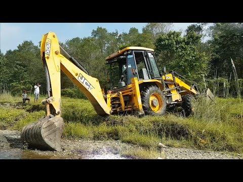 JCB Dozer Amazing Work and Move in Difficult Place - JCB Dozer - JCB Making Drain - 동영상