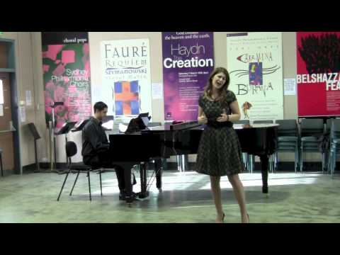 2012: Nicole Car, soprano. The first audition.