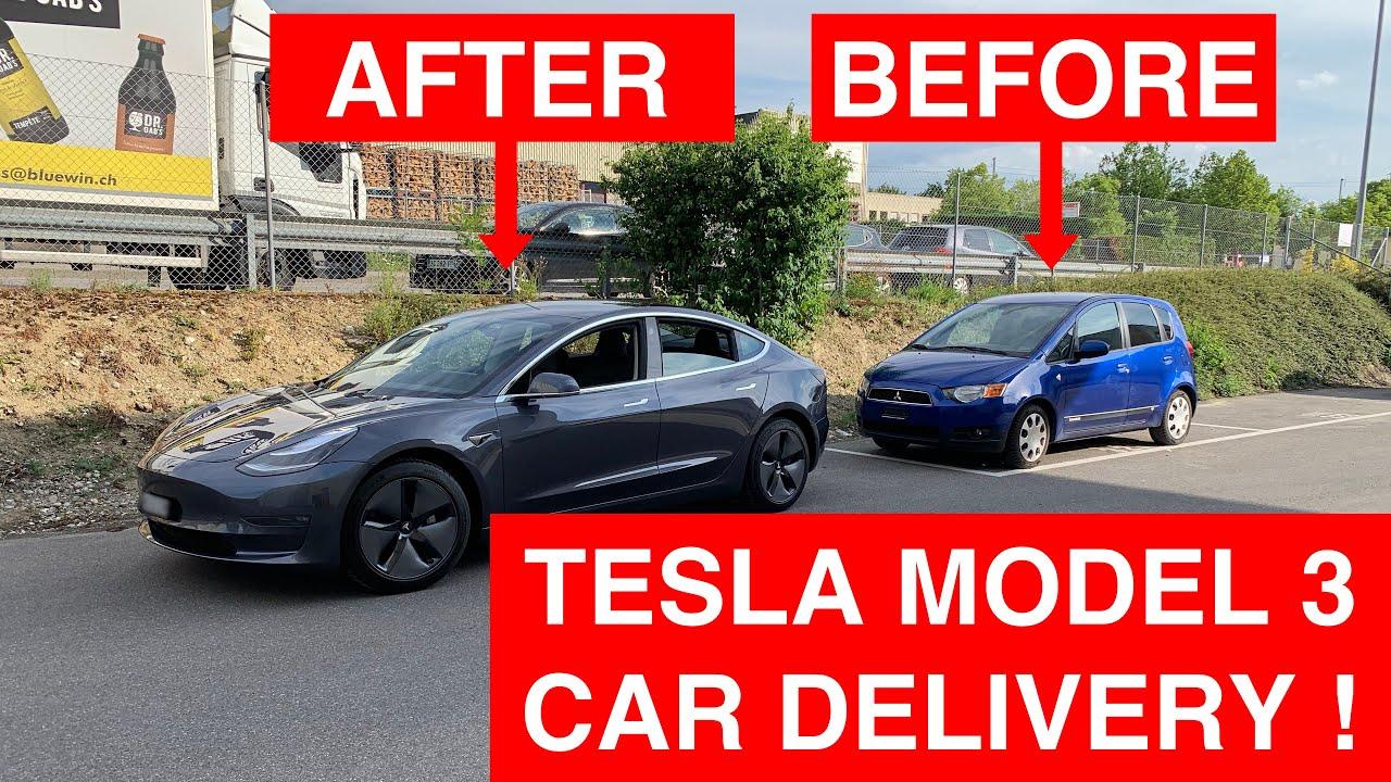 Tesla Model 3 Car Delivery in Switzerland !!! - YouTube
