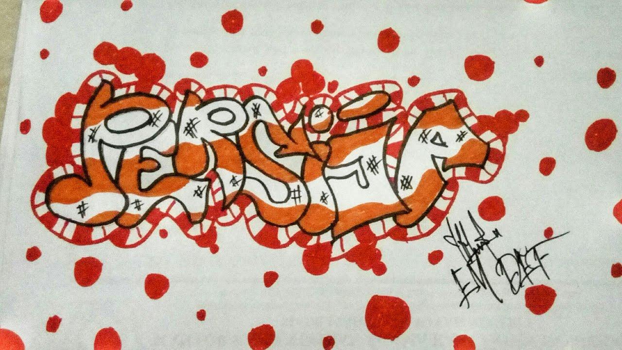 """Cara Menggambar Grafiti """"PERSIJA"""" Grafiti Indonesia"""