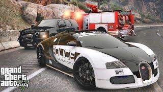 GTA 5 MODS LSPDFR 1041 - SUPERCARS PATROL!!! (GTA 5 REAL LIFE PC MOD) BUGATTI VEYRON