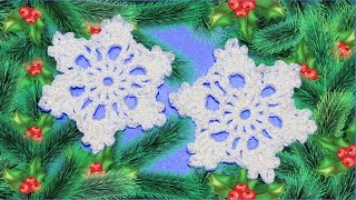 Снежинка крючком. Мастер класс. DIY snowflake crochet