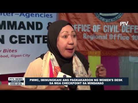PMWC, iminungkahi ang pagkakaroon ng Women's Desk sa mga checkpoint sa Mindanao