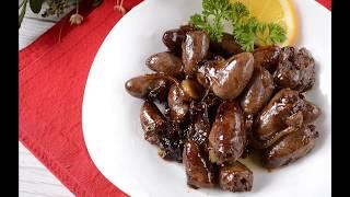 Куриные сердечки рецепт.Карамелизированые с соевым соусом.Самый простой рецепт.