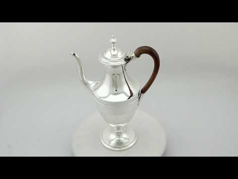 Sterling Silver Coffee Pot - Antique George III (1789) - AC Silver (A9656)