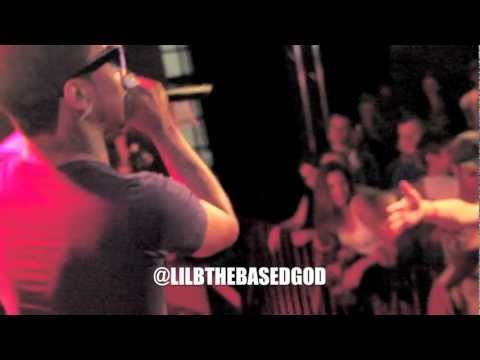 """LIL B PERFORMS """"GROVE ST PARTY"""" VERSE FROM LIL WAYNE MIXTAPE IN NORWAY! 1st TIME!"""