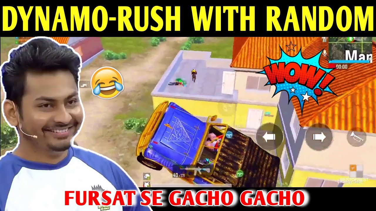 DYNAMO - RUSH WITH RANDOM | BATTLEGROUNDS MOBILE INDIA | BEST OF BEST