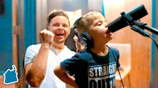 Recording Ollie's First Original Song! (5 YEARS OLD) Video