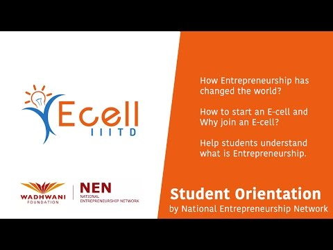 Student Orientation by National Entrepreneurship Network at IIIT Delhi
