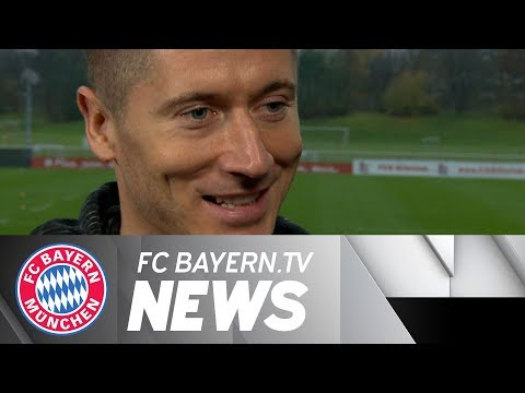 FC Bayern squad w/ Robert Lewandowski back to full strength!
