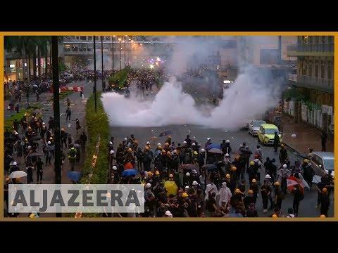 Al Jazeera English: Hong Kong police draw guns, use water cannon in clashes
