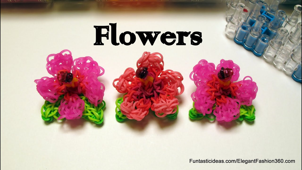 to flower hibiscus loom rainbow how a make bracelet you beautiful charm