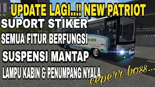 Review UPDATE MOD NEW PATRIOT BUSSID V2 9 Old MP LHA cvt WSP Bus Simulator Indonesia
