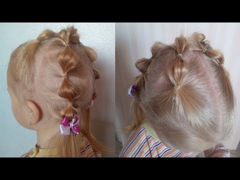Elastic style/ Easy hairsrstyle for girl.