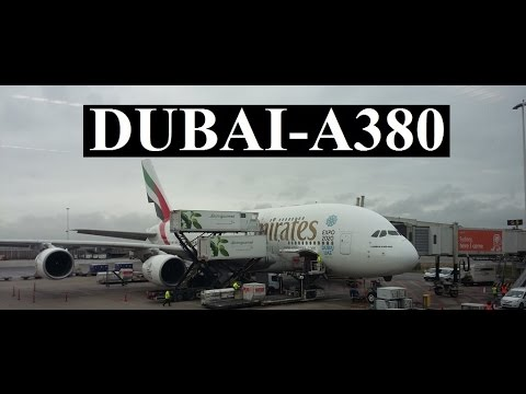 UAE/Emirates A380 (night) arrival in Dubai Part 1