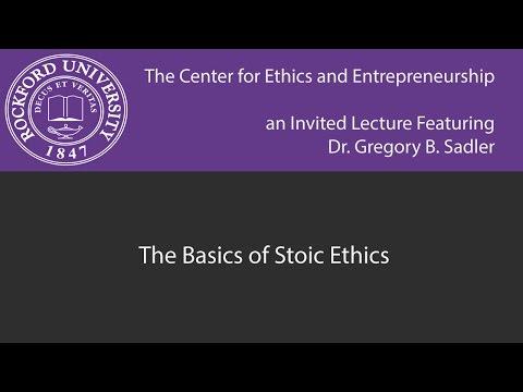 The Basics of Stoic Ethics