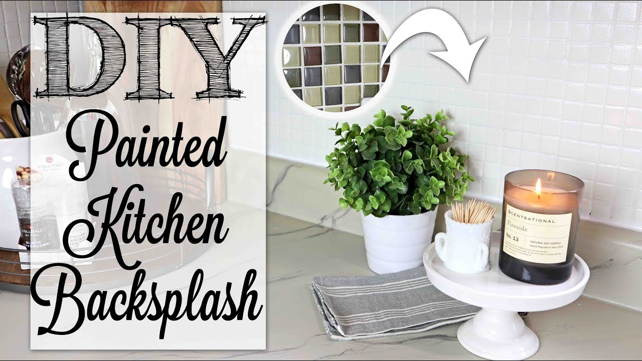 Diy Painted Kitchen Backsplash Farmhouse Style Youtube