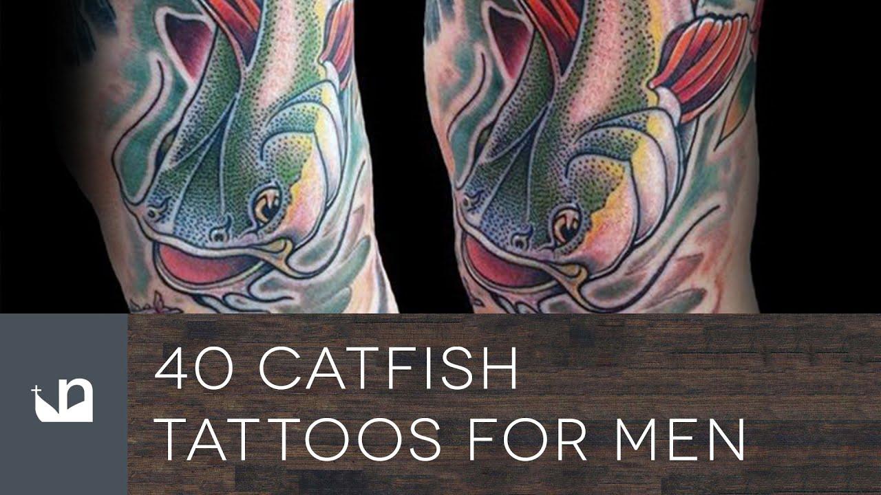 40 Catfish Tattoo Designs For Men – Aquatic Ink Ideas