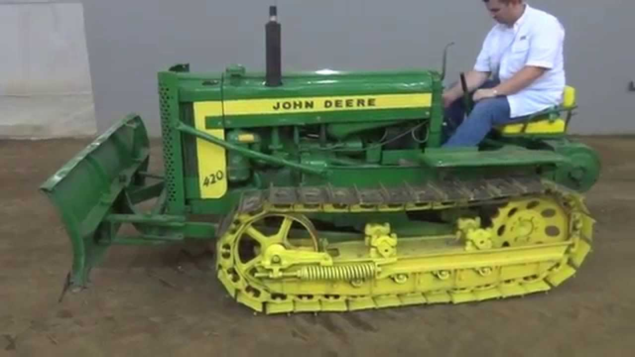 Old Antique Jd Crawlers : C john deere crawler tractor for sale w dozer