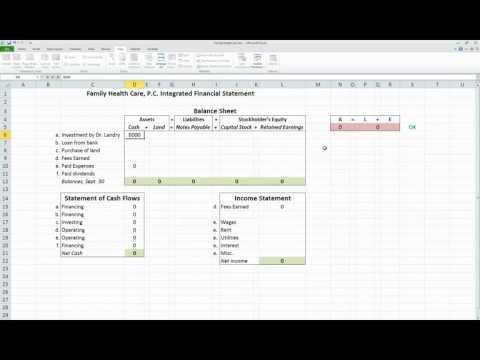Accounting 101: Integrated Financial Statements in Excel