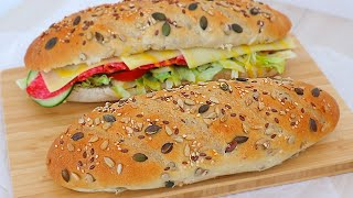 손반죽 고소한 잡곡빵 만들기 - 서브웨이st 샌드위치 …
