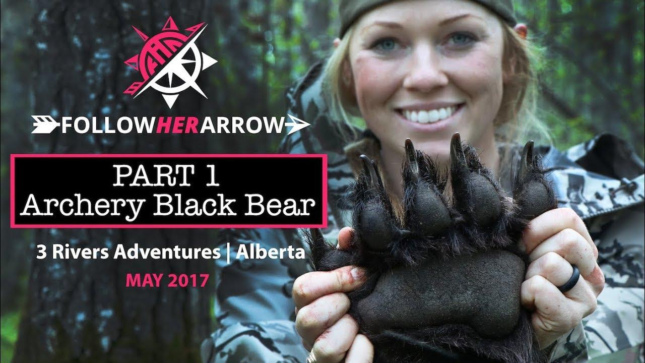 part 1 jessica taylor byers archery black bear 3 rivers adventures alberta canada youtube