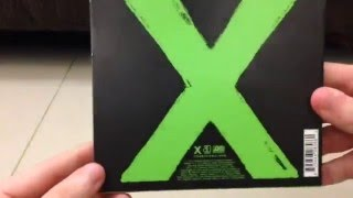 Unboxing Ed Sheeran - X UK Deluxe Version