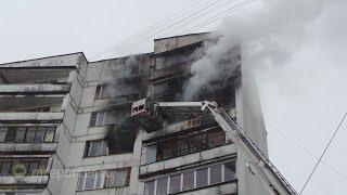 Пожар на Михневской улице дом 13 загорелась квартира на 10 этаже 1 февраля