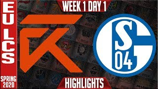 XL vs S04 Highlights | LEC Spring 2020 W1D1 | Excel Esports vs Schalke 04