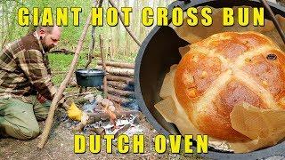 GIANT Camp-Fire Hot-Cross Bun! - Dutch Oven / Saw Horse build.
